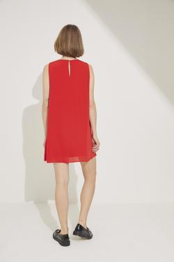 Volanlı Kolsuz Elbise