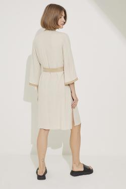Kuşaklı Önü Düğmeli Elbise