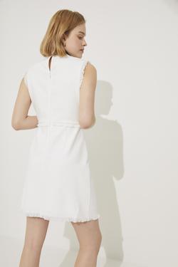 Süs Bağcıklı Mini Elbise