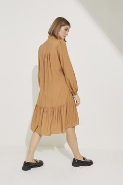 Büzgülü Askılı Elbise