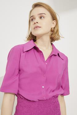 Eteği Gipeli Gömlek Elbise