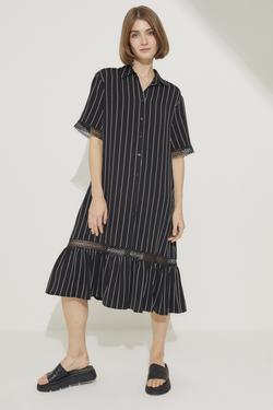 Dantel Şeritli Gömlek Elbise