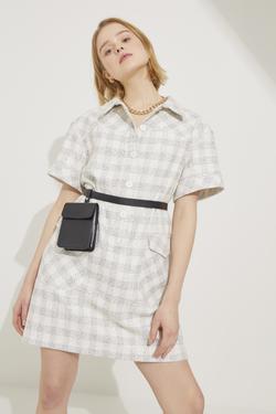 Kısa Kol Mini Gömlek Elbise