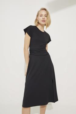 Sırtı Dekolteli Örme Elbise