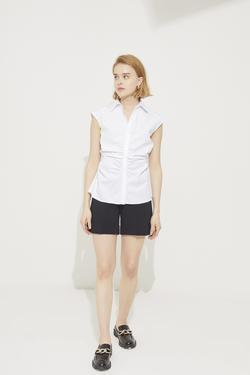 Beli Büzgülü Kolsuz Gömlek