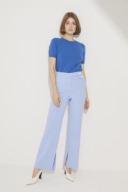 Paçası Yırtmaçlı Bol Pantolon
