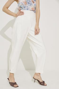 Yüksek Bel Pileli Pantolon