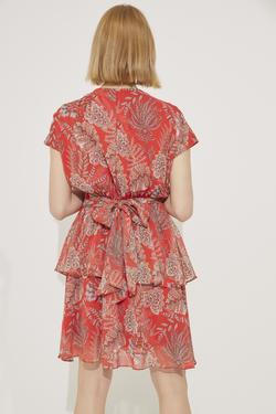 Kısa Kollu Volanlı Elbise