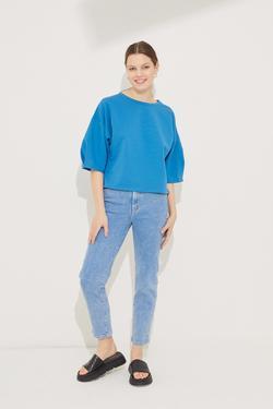 Kolları Pileli Crop Bluz