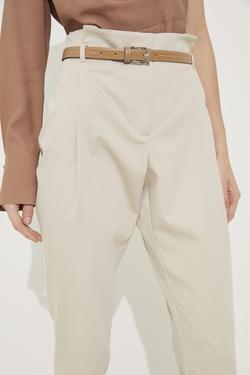Beli Kuşaklı Pileli Pantolon