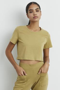 Kısa Kollu Crop Tişört