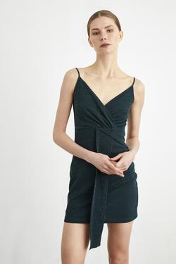 Simli Askılı Mini Elbise