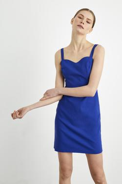 Askılı Saten  Elbise