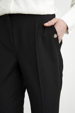 Metal Aksesuarlı Cepli Pantolon
