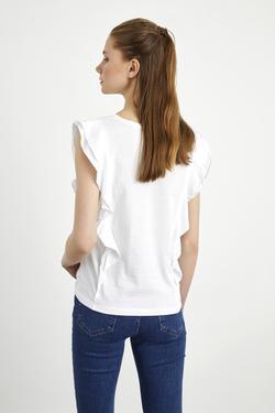 Volanlı Kısa Tişört