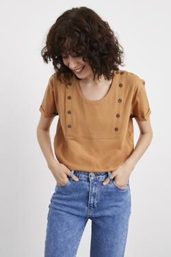 Kısa Kollu Önü Düğmeli Tişört