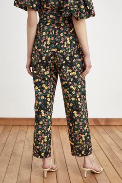 Yüksel Bel Desenli Pantolon