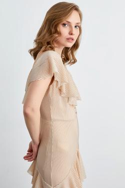 Volanlı Midi Boy Elbise