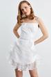 Askılı Volanlı Mni Elbise