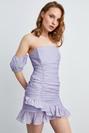 Balon Kol Şifon Elbise