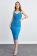 Askılı Dar Midi Elbise