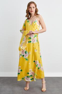 Tek Omuzlu İp Askılı 2 Parça Elbise