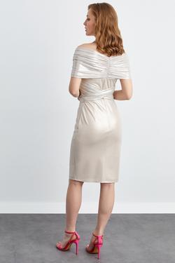 Bağlamalı Kruvaze Mini Elbise