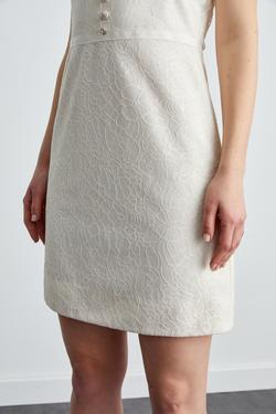 Kolsuz Dar Kesim Mini Dantel Elbise