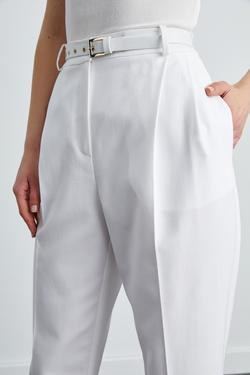 Yüksek Bel Cepli Pantolon