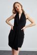 Omuzdan Bağcıklı Sırt Dekolteli Elbise