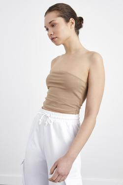 Örme Crop Tişört