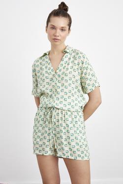 Beli Lastikli Cepli Pijama Şort
