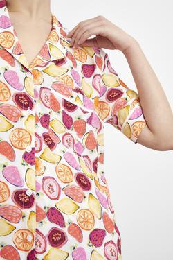 Kısa Kollu Biyeli Gömlek