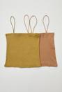2 ' Li  Set İp Askılı Crop Straplez Bluz