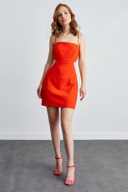 Straplez Mini Elbise
