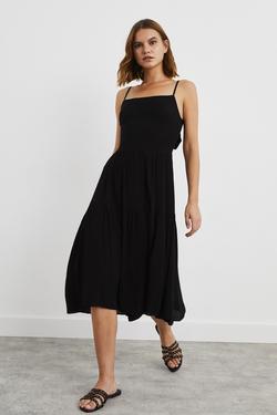 Sırtı Dekolteli Askılı Elbise