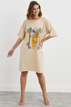 Baskılı Tişört Elbise