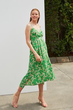 Askılı Desenli Elbise