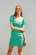 Kısa Balon Kol Mini Elbise