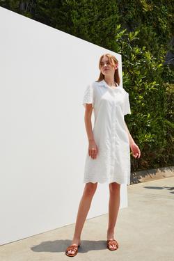 Kısa Kol Gömlek Elbise