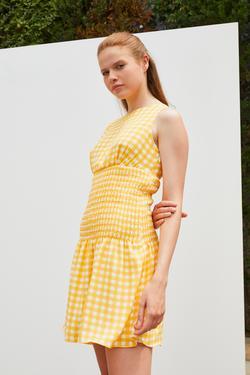 Gipeli Pötikare Desenli Elbise