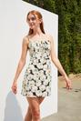 Önü Bağlamalı Askılı Mini Elbise