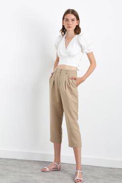 Önü Pile Detaylı Pantolon