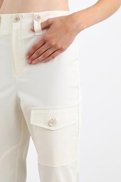 Düğmeli Cepli Paçası Apoletli Pantolon