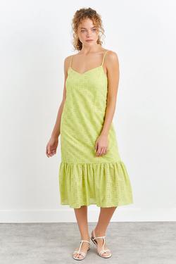 Askılı Güpür Elbise