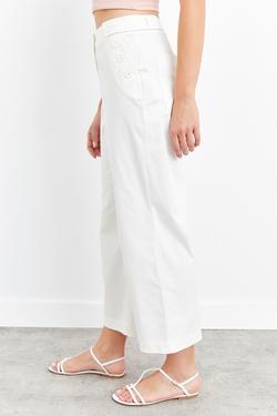 Düğmeli Cepli Pantolon