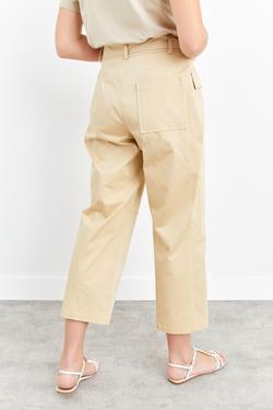Kuşaklı Cepli Culotte Pantolon