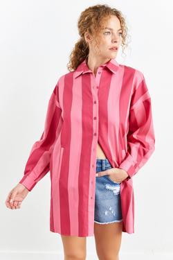 Uzun Kollu Gömlek Yaka Tunik
