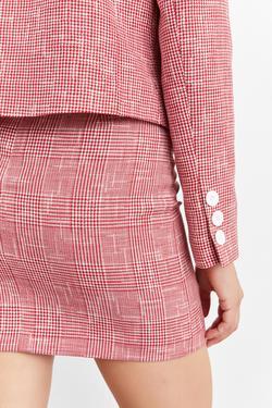 Kapaklı Cepli Düğmeli Crop Ceket