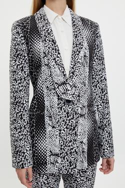 Desenli Şal Yaka Ceket